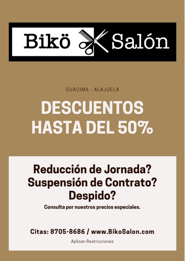 Biko Salon descuentos especiales post cuarentena costa rica