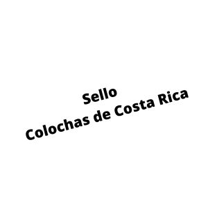 Sello Colochas de Costa Rica blanco